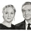 Amanda Abbington & Martin Freeman